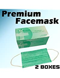 PickUp 100 PC (2 BX) 3-Ply Green Premium Dental Surgical Medical Disposable EarLoop Face Masks (FDA APPROVED) online