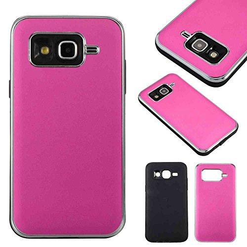 SRY-Funda móvil Samsung Cubierta rígida desmontable híbrida desprendible de la cubierta doble de la capa PC + TPU del amortiguador de choque para Samsung Galaxy J5 ( Color : Black ) Rose