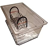 Perfect-Sousvide 6PL1R Clear 6.5 Gal. (26 qt) Polycarbonate Pan, Custom Lid and SVE Expandable Rack for Circulator Sous Vide