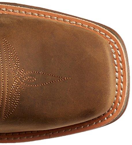 Durango Mens 12 Pollici Ramped-up Ribaltabile Da Equitazione Ribattuto Tan / Blu