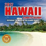 2017 Hawaii Calendar - 12 x 12 Wall Calendar - 210 Free Reminder Stickers