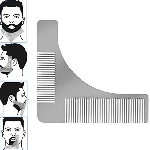 TPone Edelstahl Bart Styling und Gestaltung Vorlage Kamm Werkzeug für die perfekt Bartform