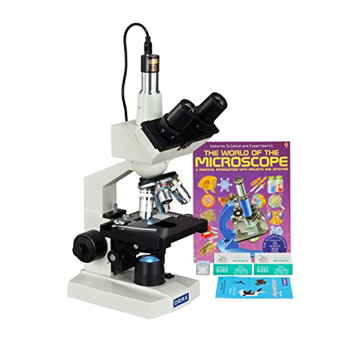 OMAX-40-2500X-LED-Digital-Trinocular-Lab-Microscope-5MP-Camera-Blank-Slides-Covers-Lens-Paper-Book