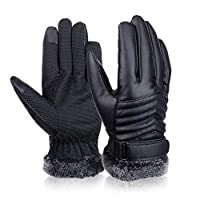 Mens Winter Gloves Touch Screen Gloves Thermal Gloves Driving Gloves for Men