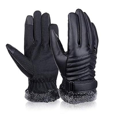 Mens Winter Gloves Touch Screen Gloves Thermal Gloves Driving Gloves for Men