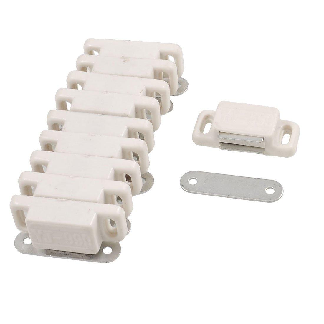 Sourcingmap a12092800ux0202en plastique Loquet magnétique de porte en métal–Blanc cassé (10pièces)