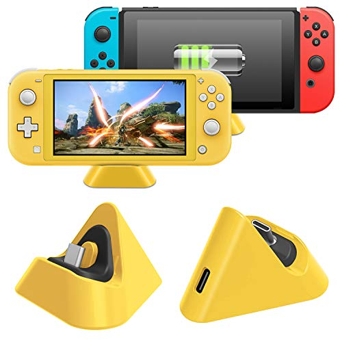 Charging Dock for Nintendo Switch Lite and for Nintendo Switch, Compact Charger Stand Station with Type C Port Compatible with Nintendo Switch Lite 2019