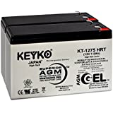 Razor 6-DW-7 12V 7.5 Ah Battery - Fresh & Real 8 Amp - Gel Deep Cycle AGM/SLA Seal Lead Acid Designed for Scooter - Genuine KEYKO - F2 Terminal W/F1 Adapter - 2 Pack