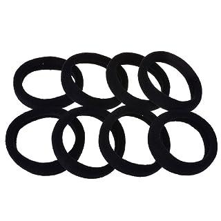 EvaGO Elastic Matel Free Hair Tie, No-Damage Ponytail Holder, Black, 100 counts