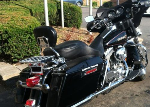 Wisdom Motorcycle Backrest sissy bar and flat luggage rack for Harley Davidson Touring Models 1997-2008 by Wisdom Motorcycle (Image #1)