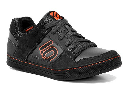 Five Ten Men's Freerider Elements Bike Shoe, Dark Grey/Orange, 12 M US