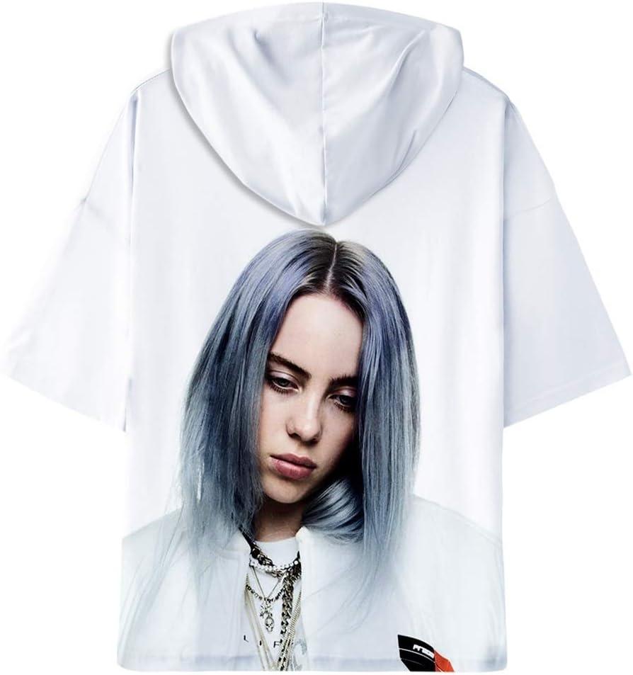 CARPDUT Billie Eilish Unisex Hoodies Baggy Sport T-Shirt 3D-Druck Fashion Hoodie