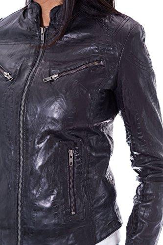 Chaqueta delgada del ajuste del estilo del motorista del vintage de las mujeres. Disponible en dise–o plano y Croc Cuero estampado negro Croc
