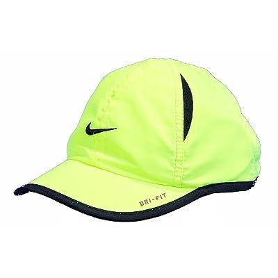 Nike Boys Dri-Fit Baseball Cap Embroidered Logo Hat (12/24 Months, Volt)