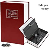 HENGSHENG Large New Red English Dictionary Secret Book Safe Money Box Jewelry Lock