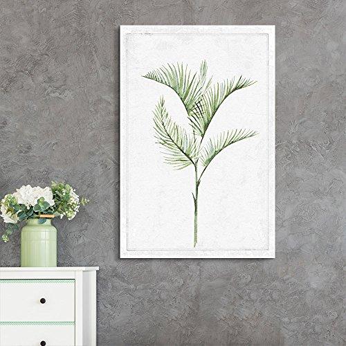 Hand Drawn Green Slim Tree Leaf Series 1 Artwork