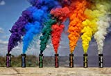 Colorful Pull Ring Smoke Tube - Rainbow 6 Pack