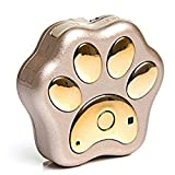 Megach Waterproof GPS Mini Pro-track-tor Pet Safety Tracker RF Technology Dog and Cat Tag Finder Locator with IOS /Android App Website Service (Gold)
