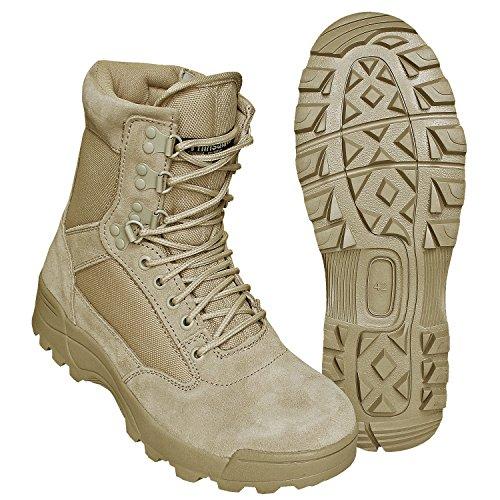 BranditSWAT Tactical Security Boot - Botas Militar Hombre Sand mit Zipper