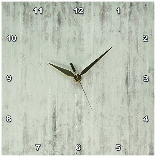 3dRose dpp_183268_1 Rustic Sage Wood Look-Wall Clock, 10 by 10-Inch