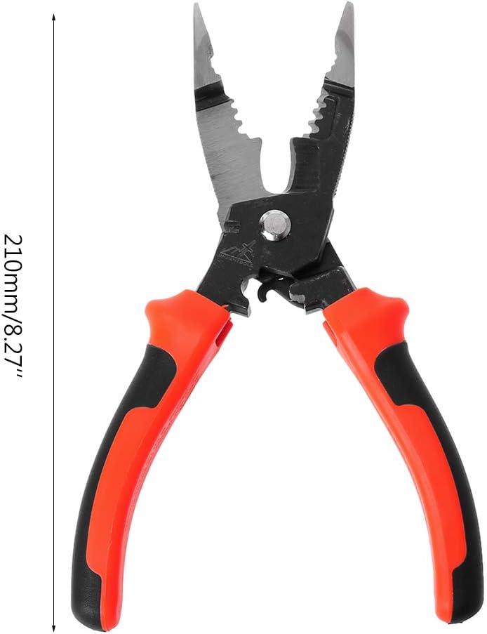 ZOOMY 5 en 1 Multifonctionnel Pince /À D/énuder D/écoupe 8inch 210mm C/âble Sertissage Coupeur /Électricien Coupant Outils /À Main