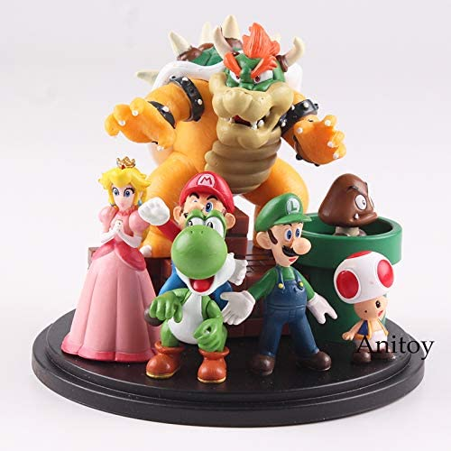 Romantic-Z Super Mario Bros Bowser Princesa Peach Yoshi Luigi Toad ...