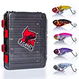 Untapped fishing Premium Fishing Lures for Bass, 6pc Ultra Lure kit Comes with a Bonus Double Sided Tackle Box. Hard Metal Spinner Bait kit Alternative