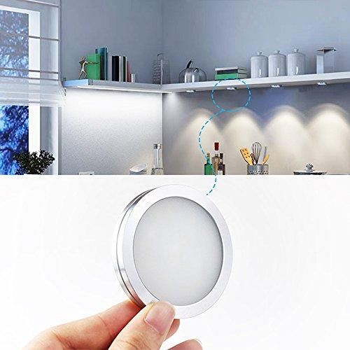 BWL Puck Lights With Remote Control,Brightness Adjustable LED Under Cabinet  Lighting, Multi Color LED Accent Lights