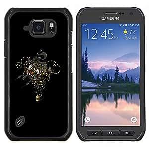 Qstar Arte & diseño plástico duro Fundas Cover Cubre Hard Case Cover para Samsung Galaxy S6Active Active G890A (Diseño Humo)