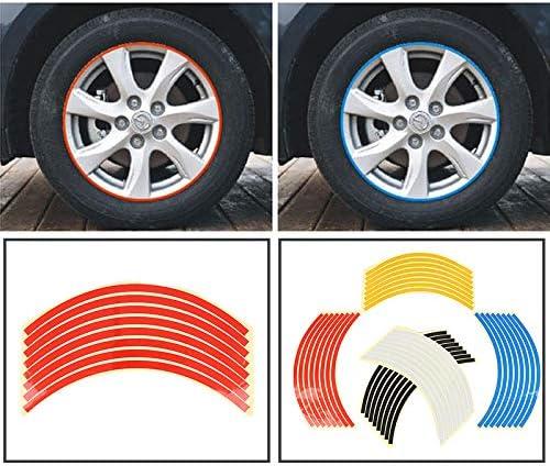 bqmqolove 8 ST/ÜCKE Felge Reflektierende Streifen F/ür 10 20 Zoll Rad Auto Motorrad Reflektierende Aufkleber Aufkleber