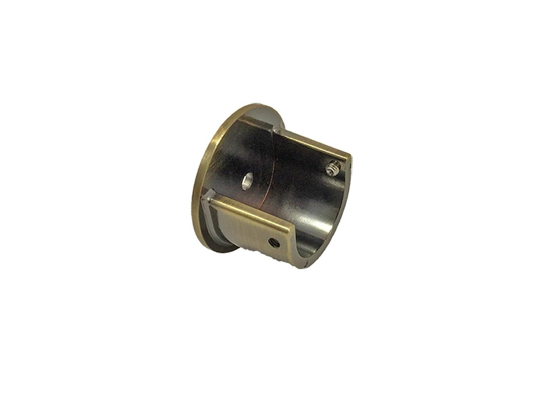 28mm Curtain Pole Recess Wall Bracket Satin Chrome Antique Brass Black Metal Brushed Chrome