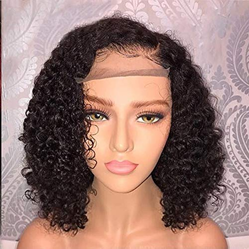 Clearance Sale!DEESEE(TM)Brazilian Less Lace Front Full Wig Bob Wave Black Natural Looking Women Wigs