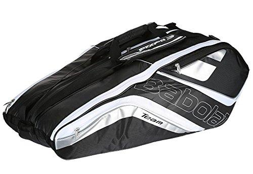 Babolat Team Line Tennis Racquet Holder x12, Black/Silver ()