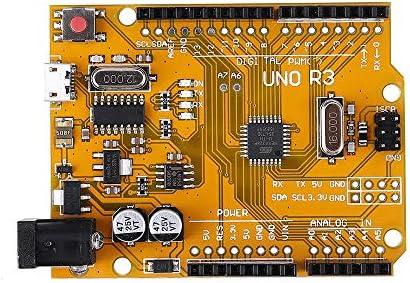 修正アクセサリー 開発ボードは、SCMイエローモジュールATMEGA 328P UNO R3フィット感のためのArduinoを強化されたバージョンの改善しました