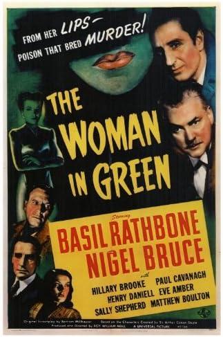 Amazon.com: The Woman in Green Movie Poster (27 x 40 Inches - 69cm x 102cm)  (1945) -(Basil Rathbone)(Nigel Bruce)(Hillary Brooke)(Henry Daniell)(Paul  Cavanagh)(Frederick Worlock): Prints: Posters & Prints