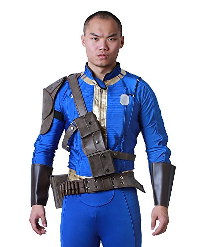 miccostumes mens sole survivor cosplay belts set men large fallout jumpsuit costume