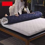 WYMNAME Thicken Quilted Japanese Floor futon Mattress, Washable Matt mat Futon Mattress Topper-Blue 120x200cm(47x79inch)