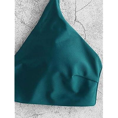 ZAFUL Women's Swimsuit Leaf Print Padded Bathing Suits Adjustable Straps Bikini Set: Clothing