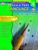 Language Arts Teach and Test 5, Sally Fisk, 0887247725