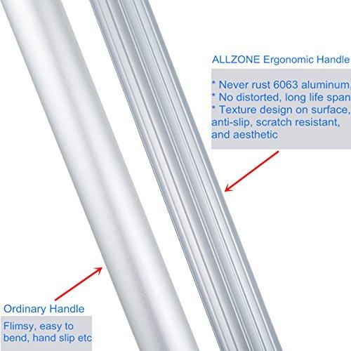 ALLZONE Professional Microfiber Mop for Hardwood Laminate Floor, Robust Adjustable Aluminum Handle, 360 Degree Rotatable Mop Frame, 3 Premium Reusable Wet | Dry Mop Pads + Free Scraper Cleaner Tool by ALLZONE (Image #5)