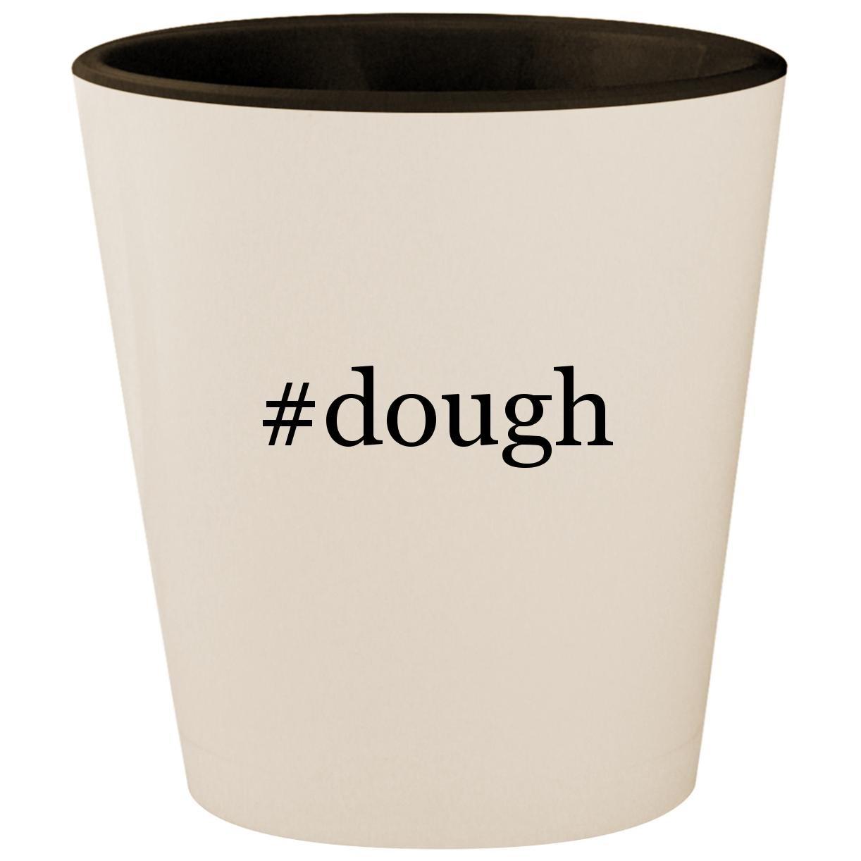 #dough - Hashtag White Outer & Black Inner Ceramic 1.5oz Shot Glass