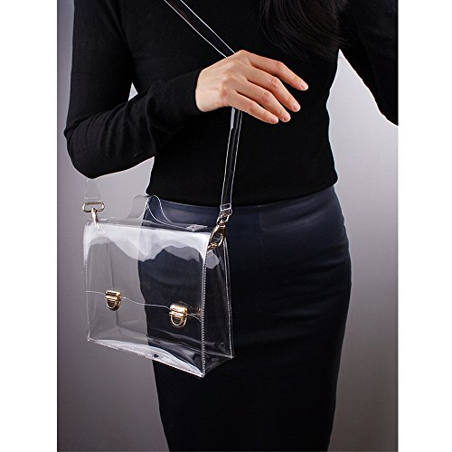 Satchel Cross Clear Clear Handbag Approved Stadium Messenger Bag Shoulder NFL PVC Bag Transparent Body Women's A4ZwRq