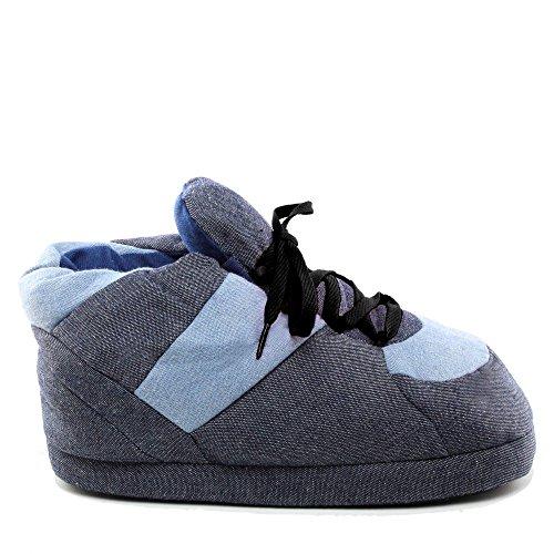 Schnürsenkel Denim Jeans Pantoffeln 46 Größe Sleeper'z Schwarze EU 44 Hausschuhe Lustig Rutschfeste aqn1B