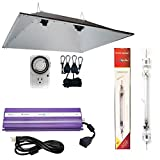 Hydroplanet™ Double Ended XXL Reflectors Hood Hydroponic Grow Lights Kit DE Reflector Hood With Dimmable Digital Ballast HPS LAMPS Horticulture Plant Grow System Set¡­