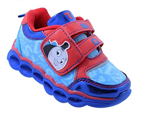 Thomas The Train Toddler Boys' Light-Up Athletic Running Shoe Sneaker Red/Blue (8 M US Toddler) ()