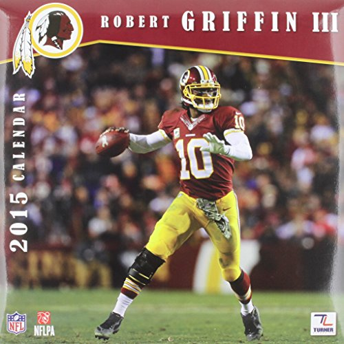 Turner Perfect Timing 2015 Washington Redskins Robert Griffin III Player Wall Calendar, 12 x 12 Inches - Player Calendar Wall