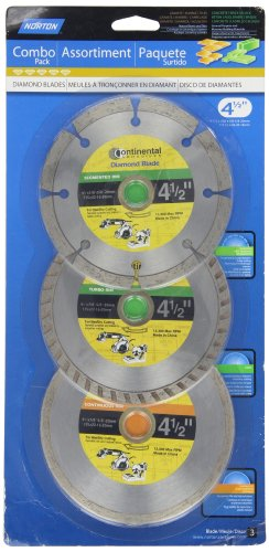 Norton 07660705344 Classic General Purpose Diamond Blade Combination Pack, 4