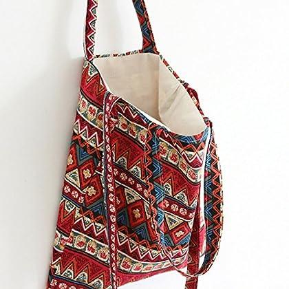 ASAPS Canvas Tote Bag Black Print Design (Bohemian002) 5513befa73e24
