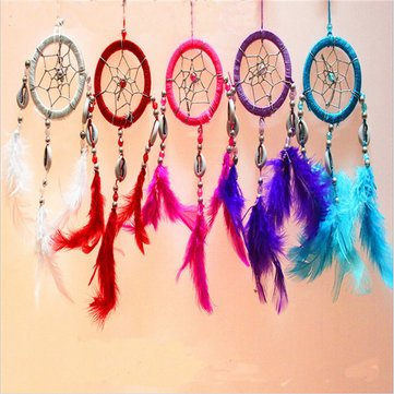 Pure Fantasy Feathers Ring Wind Chime Dream Catcher Campanula Hanging Ornament^.