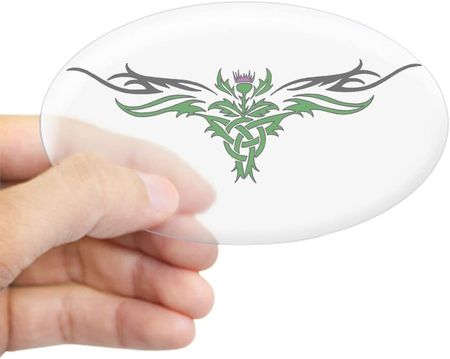 farblos CafePress/ /oval Bumper Sticker KFZ Aufkleber /Tribal Distel Oval Aufkleber/ Large 4.5x7.5